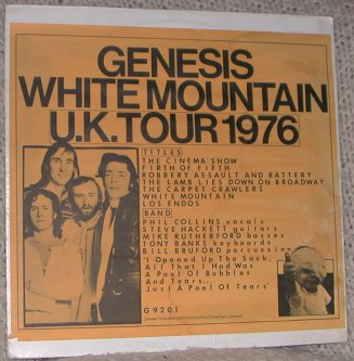 White Mountain Uk Tour 1976